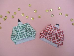 お雛様 とお内裏様の折り紙。簡単に雛人形(ひな人形)を子どもでも作れる作り方♪保育にもおすすめ!