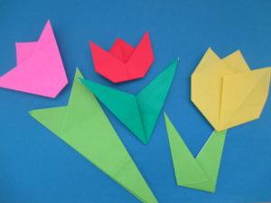 折り紙でチューリップの折り方。可愛い花の折り方3種類をご紹介♪