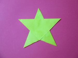 折り紙で星の折り方。簡単にあっという間に作れるよ♪