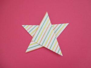 折り紙で星の折り方。簡単に1枚で作れるよ。七夕やクリスマスにも♪