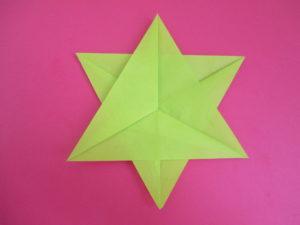 折り紙で星の折り方。2枚で「にまいぼし」を作ってみよう♪