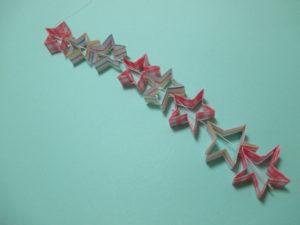 星つづりの折り方。簡単に七夕やクリスマスの飾りを作ってみよう♪