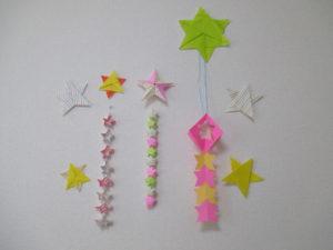 折り紙で星の簡単な折り方。子供にも出来て七夕やクリスマスの飾り付けにも!