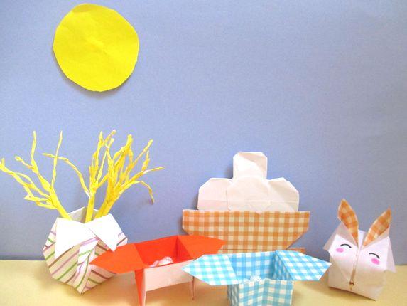 折り紙でお月見の簡単な折り方。かわいい9月の秋飾りの作り方。