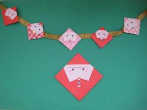 折り紙でサンタのかわいい 簡単な折り方。一枚で簡単にサンタクロースが完成!三歳児さんの保育にも!