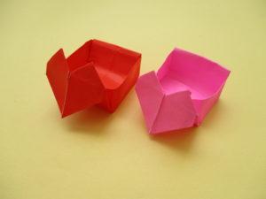 折り紙でハートの箱の折り方。簡単に出来てバレンタインにオススメ♪