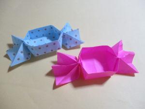 折り紙で箱の作り方。可愛いキャンディーボックスを作ったよ♪