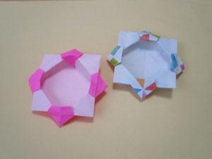 折り紙で箱の折り方。簡単にフラワーボックスを作ってみたよ♪