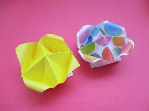 折り紙で箱の作り方。簡単に可愛いフラワーボックスの折り方