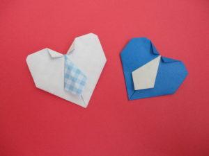 折り紙でハートのネクタイの折り方。父の日やバレンタインにオススメ♪