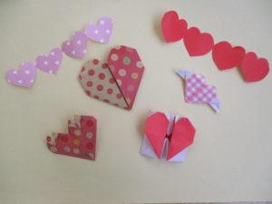 折り紙でハートの折り方13選。平面から立体まで簡単可愛く作ってみたよ♪