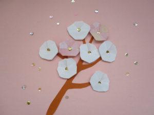 折り紙で梅の折り方。簡単に平面でお正月飾りにもオススメ!