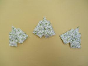 ひな祭りの折り紙。仕丁(しちょう)の簡単な折り方。3月のお雛様の壁面飾りの製作にオススメ!