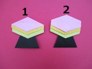 ひな祭りの折り紙。ひしもちの作り方。簡単かわいい菱餅の折り方2種類。幼稚園や保育園の幼児にもおすすめ!