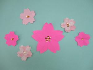 折り紙で桜の折り方。平面でメッセージカードにもオススメ♪