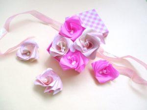 折り紙でバラの折り方。簡単に立体のバラを折ってみよう!