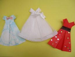 折り紙でドレスの折り方。簡単かわいく折ってプレゼントにも!