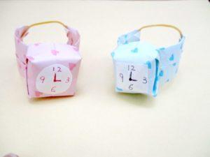 折り紙で腕時計の折り方。簡単に出来てプレゼントにオススメ♪